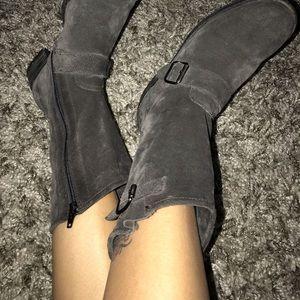 Paul green dark grey suede boots like new!!!